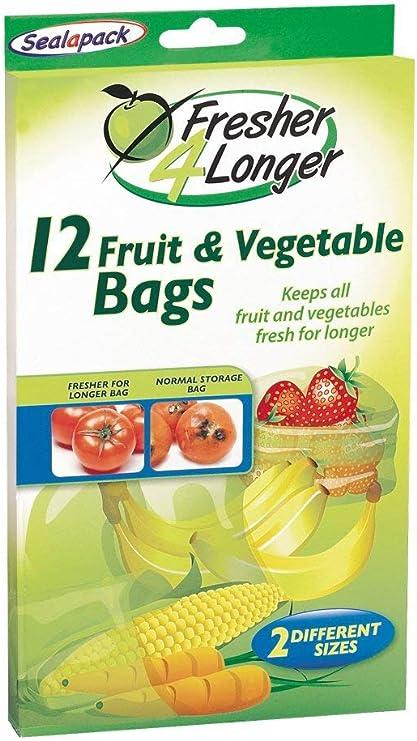 Image ofSealapack Fresh For longer Fruit & Veg Bags 12 Pk