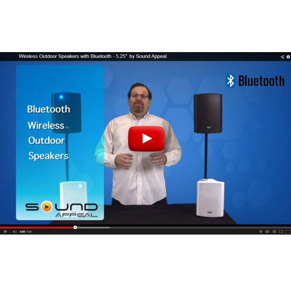 Amazon.com: Bluetooth 5.25 Indoor/Outdoor Weatherproof Patio Speakers  (Black  Pair): Home Audio U0026 Theater