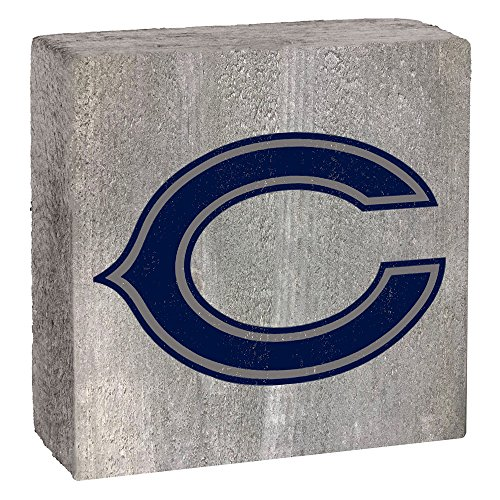 NFL Chicago Bears, Gray Background Team Logo Block by Rustic Marlin 6