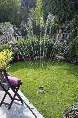 Gardena zoommaxx oscillating sprinkler on weighted sled