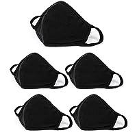 5 Pack Fashion Protective, Reusable Cotton Fabric, Unisex Black Cotton, Washable