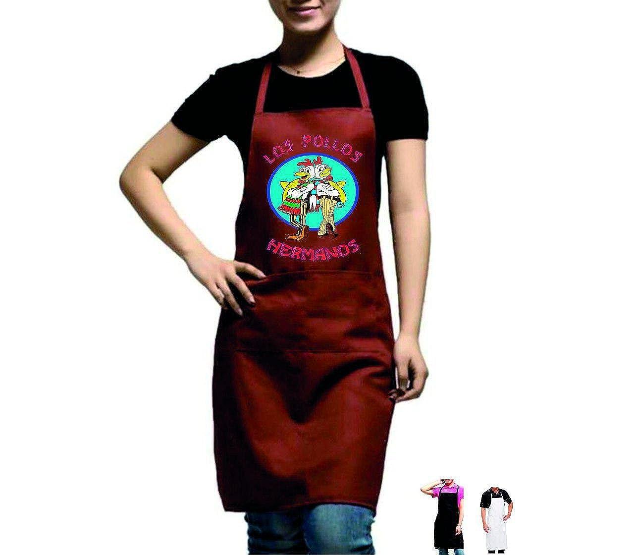Grembiule da Cucina Los Pollos alberghiero e parannanza per ristorazione in Cucina. Divisa da Lavoro per Bar Pub ristoranti Alimentari cucine Cuoco enoteche e Catering Chef grembiule015