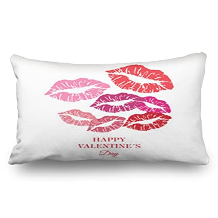 LOLYeah Throw Pillow Covers Greeting Happy Valentines Day Womens Beauty  Fashion Lip Holidays Lips Kiss Decorative 9d2b7ec779