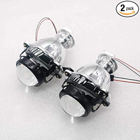 Amazon Com 2pcs 1 8 Inch Mini Bi Xenon Projector Lens Headlights