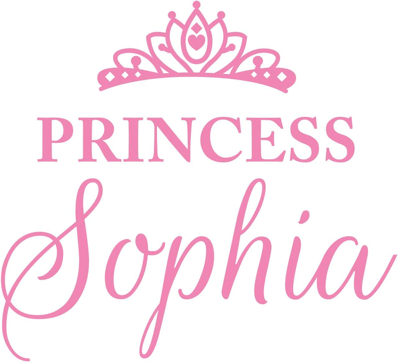 Princess Sophia Wall Decal is a Vinyl Wall Decal Displaying a Room Girl Decor, a Great Wall Art, Name Sign or Accessories for a Girl Bedroom, Similar to Stickers and Posters - Soft Pink