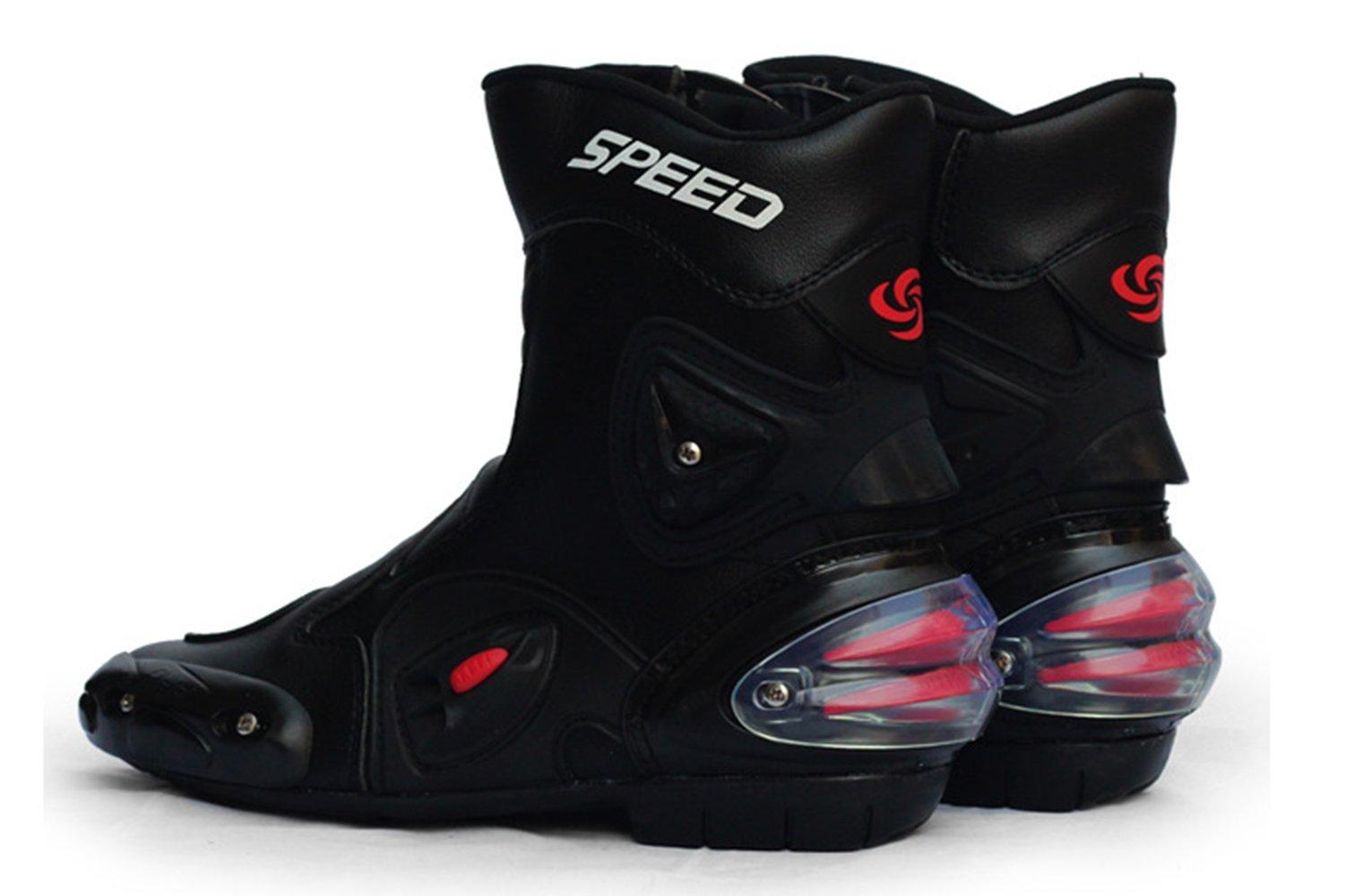 Ychen Men Women Motorcycle Boots Shoes Outdoor Sports Waterproof Shoes(42EU)