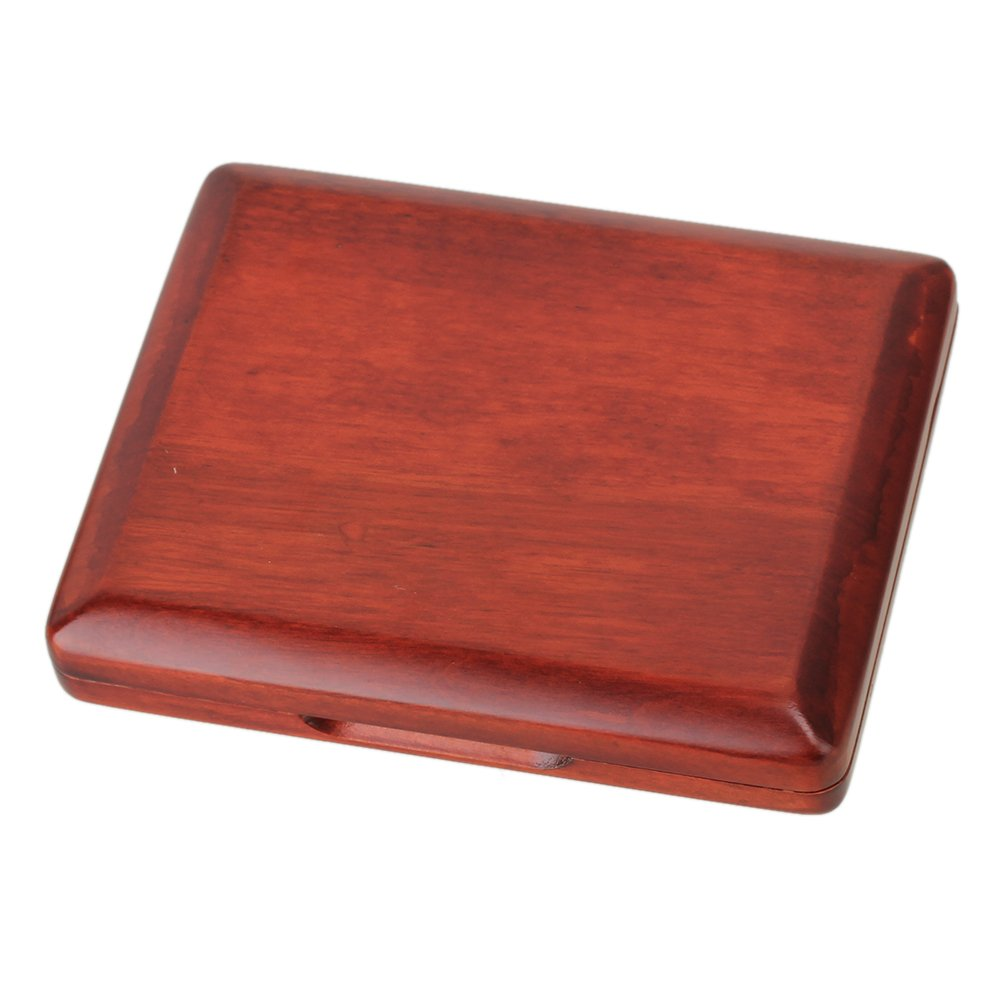 RDEXP Dark Red Wooden Bassoon Reed Case Hold for 5 Pcs Reeds
