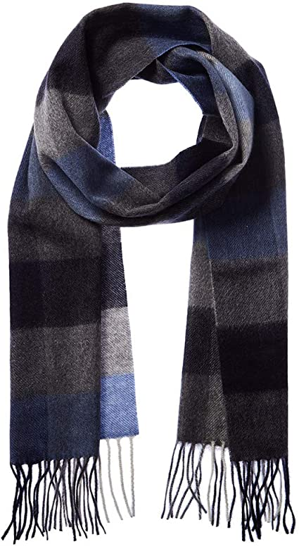 Made in Scotland Elegant 100/% CASHMERE LONG SCARF 72X12 PURE SOLID BLACK Wool