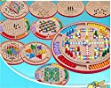 StarMall 10 in 1 Wood Chinese Game Set-Flying Chess  Chinese Checkers  Gobang  Animal Checkers  Snakes and Ladders の商品画像