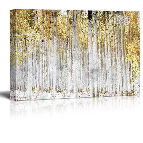 \Trees with Yellow Leaves - Canvas Art Wall Decor