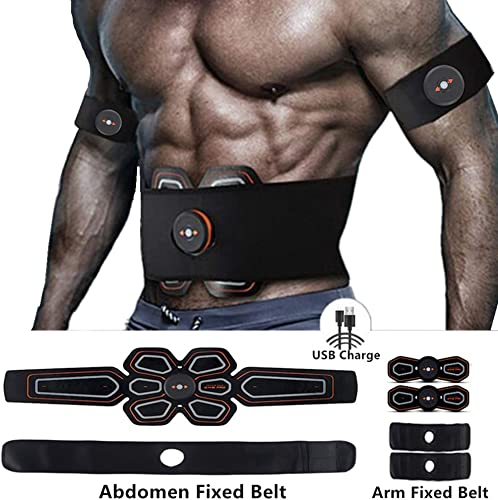 MBODY ABS Muscle Toner Abdominal Toning Workout Belt Body Training Gear Fitness Equipment Full Set for Abdomen Arm Leg Training USB Charging