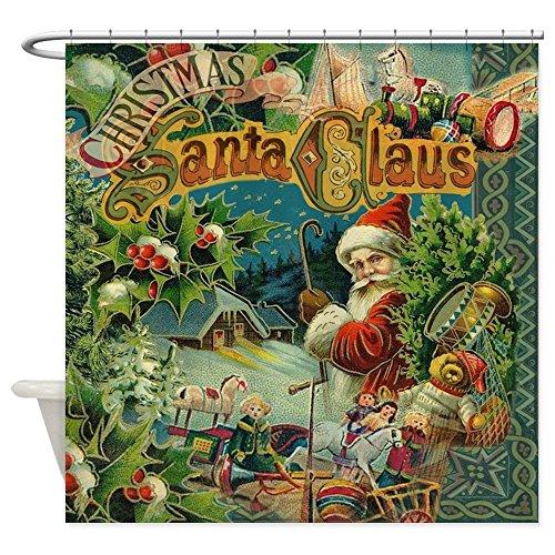 CafePress - Christmas Santa Claus Antique Vintage Victorian Sh - Decorative Fabric Shower Curtain (69
