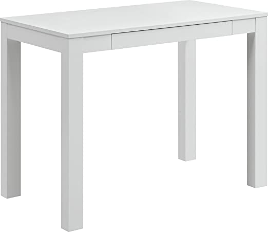 Amazon Com Ameriwood Home Parsons Desk With Drawer White