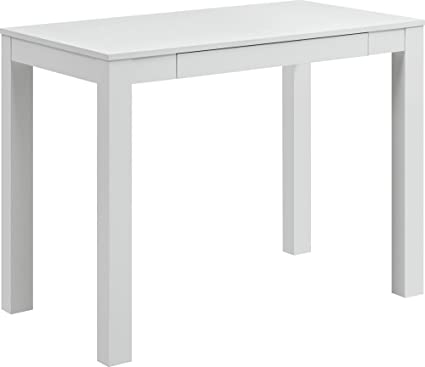 amazon com ameriwood home parsons desk with drawer white kitchen rh amazon com