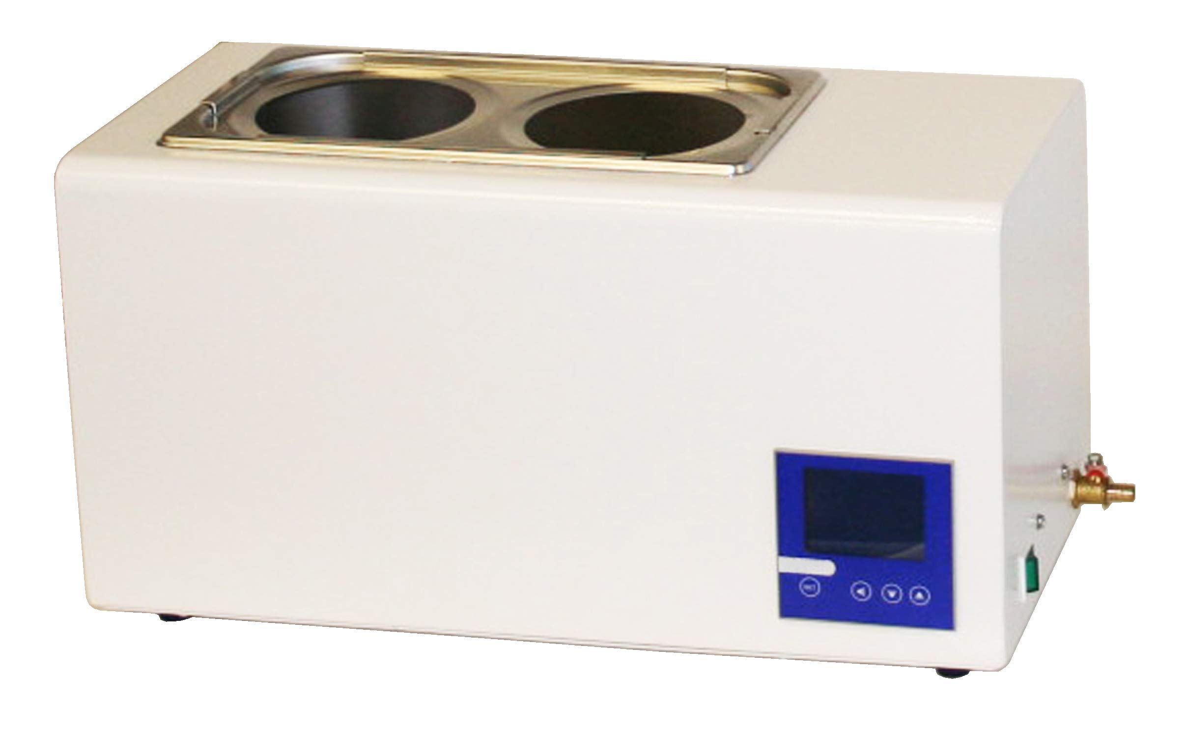 Jackson Global JS-HW-4L Digital Water Bath   Capacity:4 Liter   Temperature Range: 5-99 ºC   Voltage: 110V / 50-60Hz   Temperature Fluctuation: ±0.2 ºC