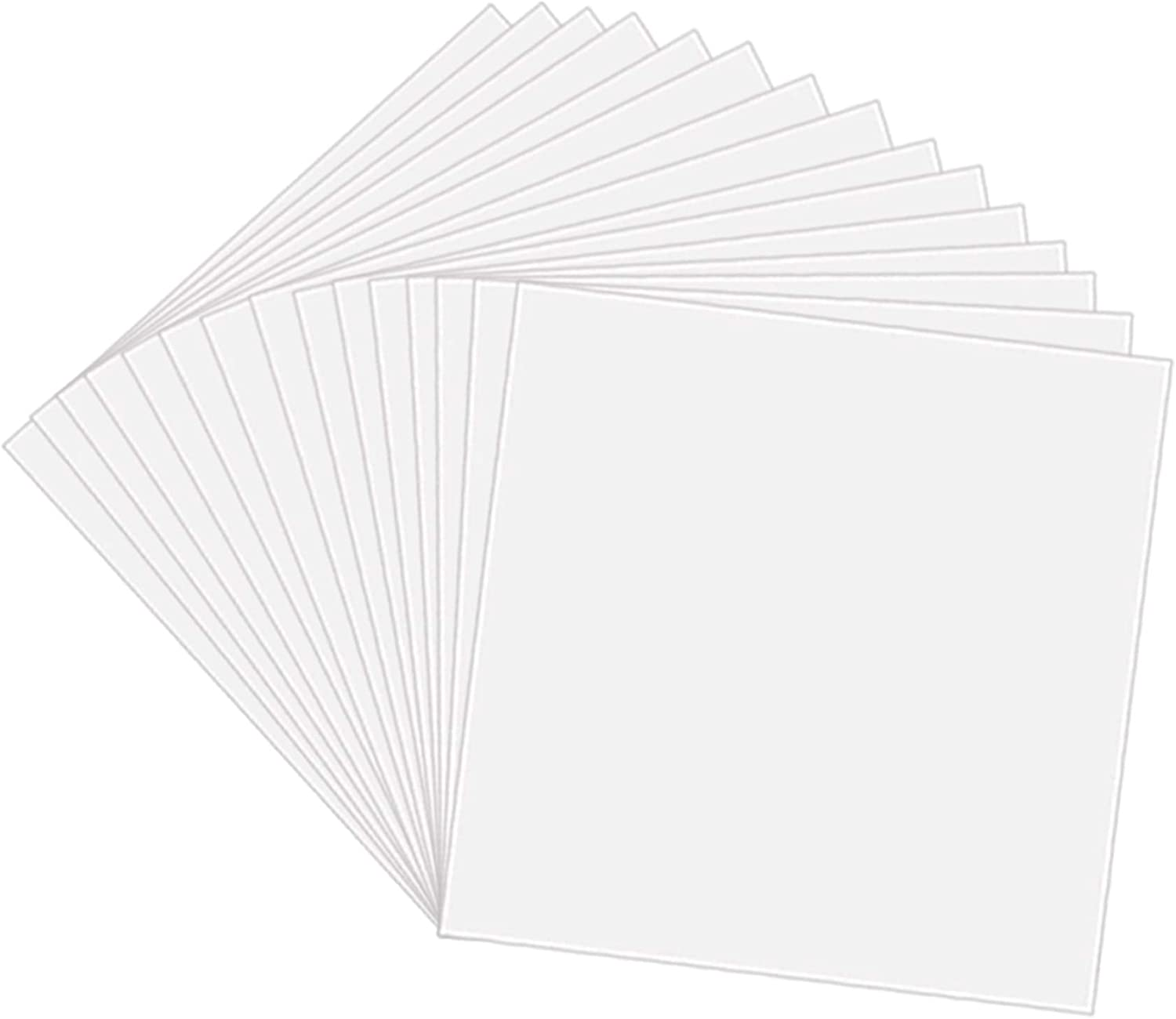 10 Pack 4 Mil Clear Mylar Stencil Sheets, 12