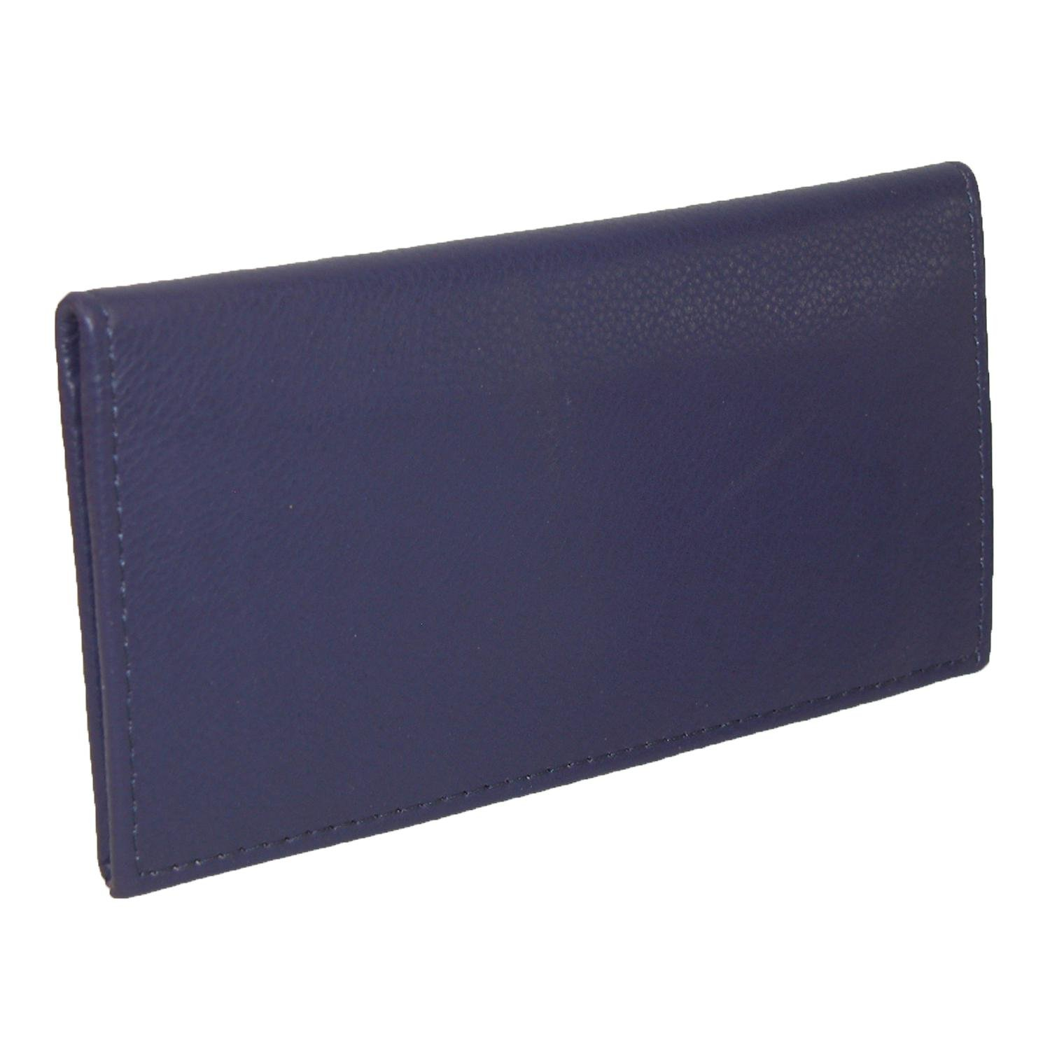 CTM Women's Leather Fashion Checkbook Cover, Purple