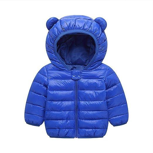 e794e630a Smiela Kids Winter Warm Lightweight Down Jacket Cotton Lining Padded Hooded  Coat Outerwear