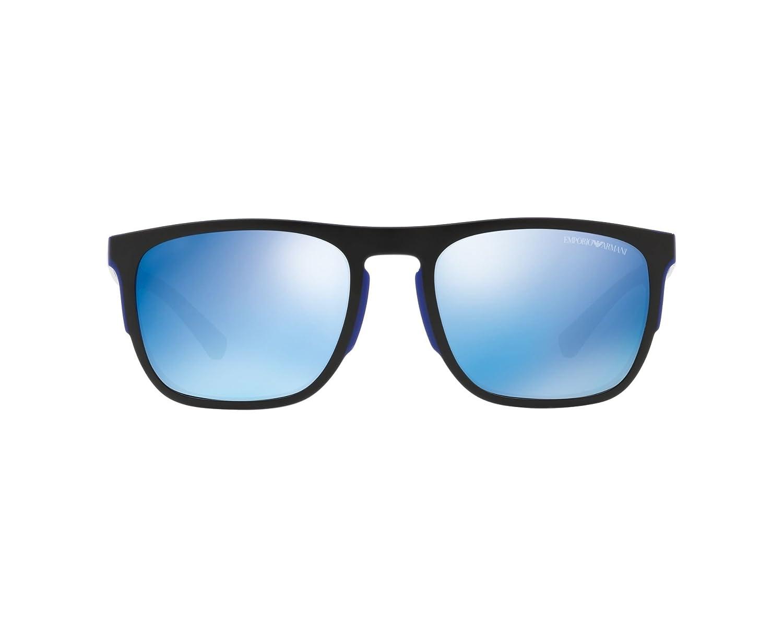 Sunglasses Emporio Armani EA 4114 567355 MATTE ELECTRIC BLUE ...