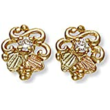 Landstroms 10k Black Hills Gold Diamond Earrings - 01734X