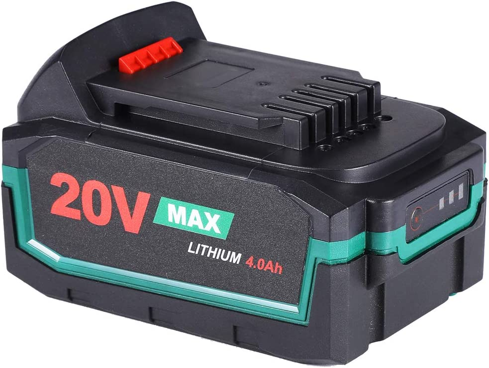 LANNERET 20V MAX 4.0 Ah Lithium Ion Battery-Pack,Rechargeable Replacement Battery,for All 20V LANNERET Cordless Power Tools - PALB20-4.0