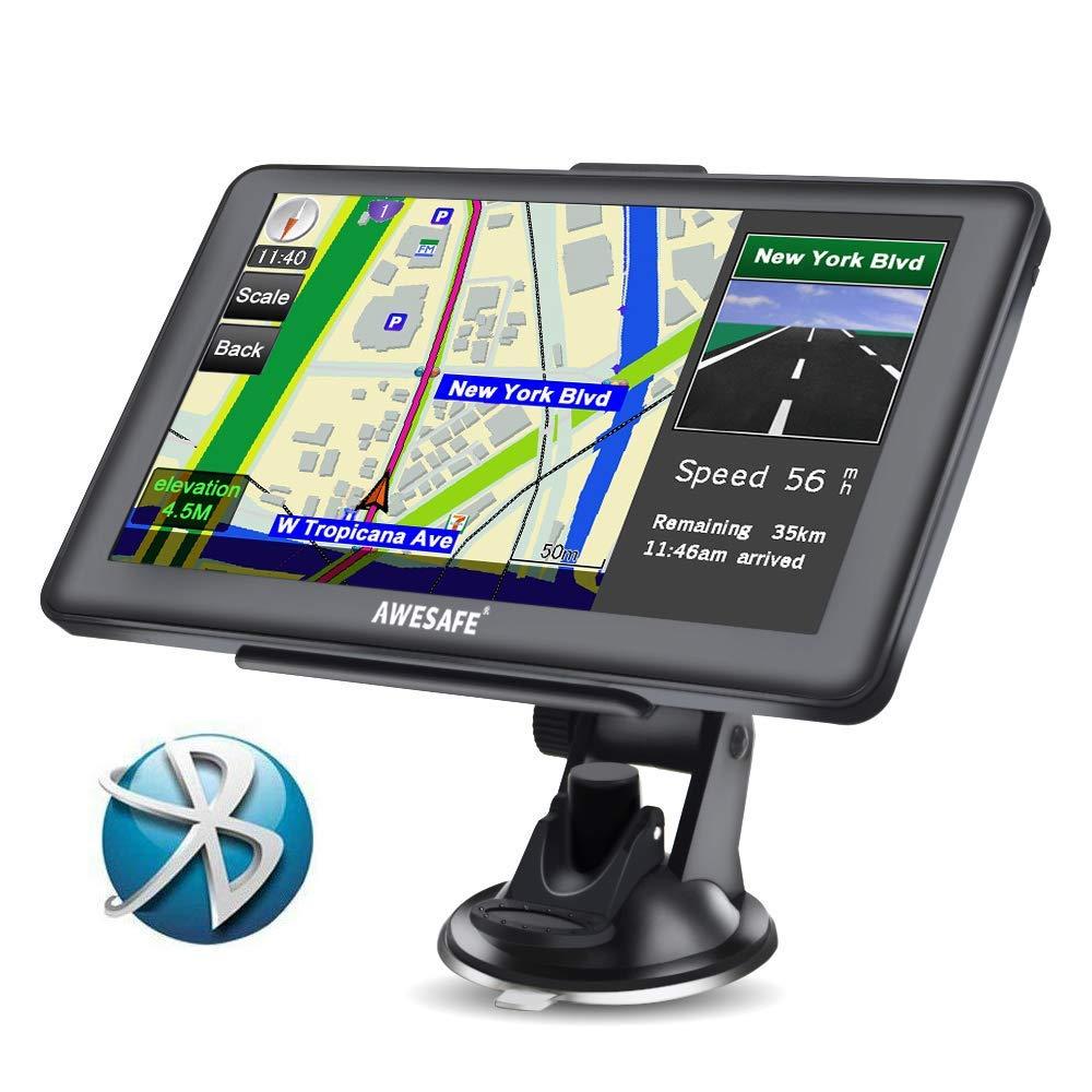 GPS Voiture Auto Europe 7 Pouces Ecran Tactile Bluetooth Cartographie Europe 52 à Vie Mise à Jour Gratuite à Vie