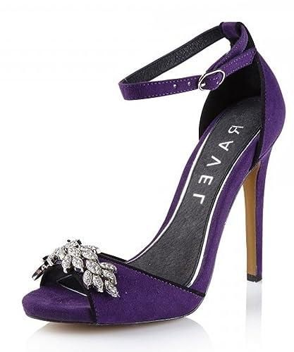 RAVEL Virginia - Womens Purple Vintage Glamour Diamante High ...