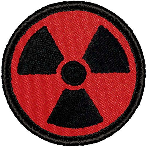 Retro Red and Black Nuclear/Radioactive Patrol Patch - 2