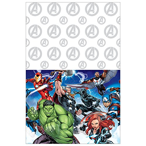 Marvel Avengers Plastic Table Cover, 54 x 96'', Party Supplies by American Greetings
