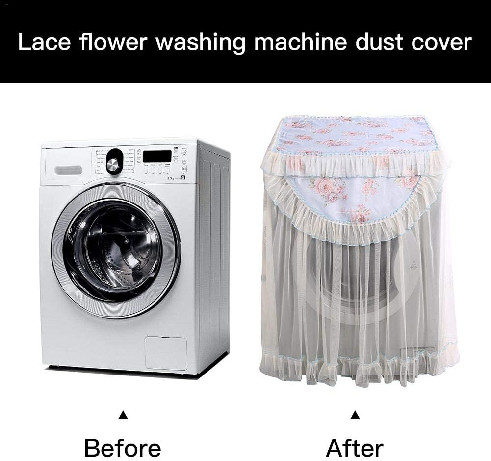 Lace Flower Washing Machine Dust Cover Non-polluting Washer Protective Cover Dryer All Inclusive Dust Proof Cover Top Cover 6 Types