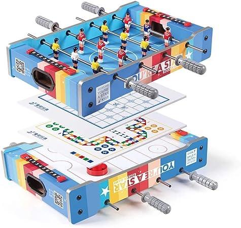 4 en 1 Combo Juego Tabla de combinación de Juego de Mesa Multi Juego Juego de Mesa - Portátil de Mesa de futbolín - Hockey - ajedrez Chino - Ludo for Niños: Amazon.es: Hogar