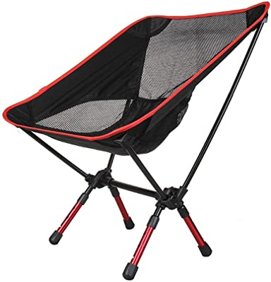LXJYMXCreative Lounge Chair Outdoor Portable Folding Chair, Aluminum Alloy Folding Chair, Moon Chair, Fishing Chair Stretching @