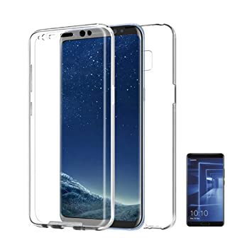 PLANETMOVIL [[ Huawei Mate 20 Pro ]] Carcasa Funda 360º de Doble Cara 100% Transparente Completa con Trasera rígida