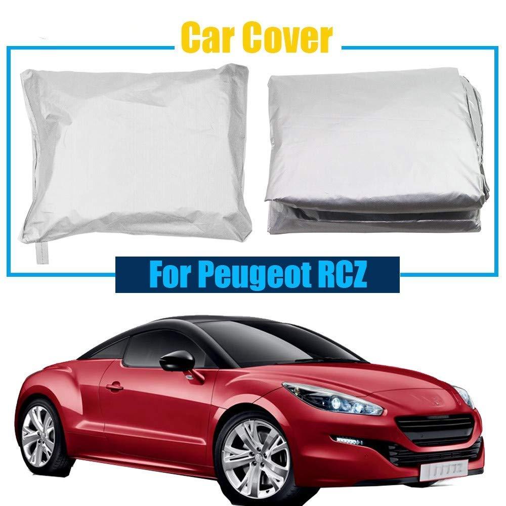 車のカバー防水フルカーカバー紫外線アンチサンスノーレインプロテクション抵抗カバー防塵プジョー用 (Color : A)  A B07T9SJ4KB