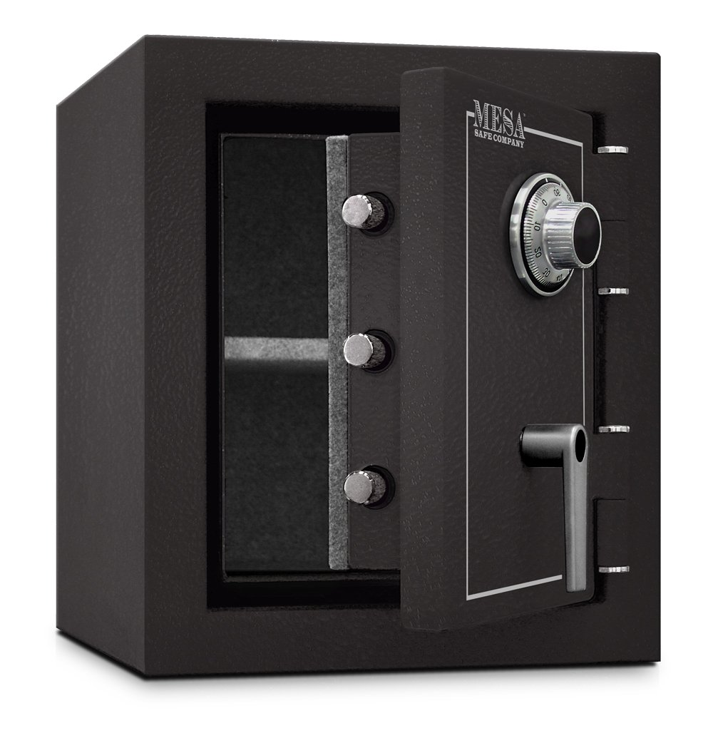 Mesa Safe MBF1512C All Steel Burglary and Fire Safe with Combination Lock, 1.7-Cubic Feet, Hammered Grey by Mesa Safe (Image #3)