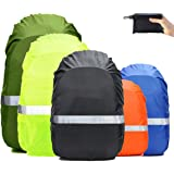 Frelaxy Hi-Visibility Backpack Rain Cover with Reflective Strip 100% Waterproof Ultralight Backpack Cover, Storage Pouch…