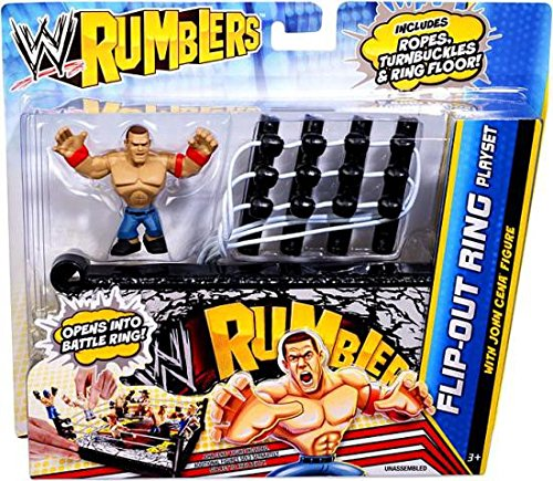 WWE Rumblers Flip-out Ring Playset with John Cena Figure by WWE