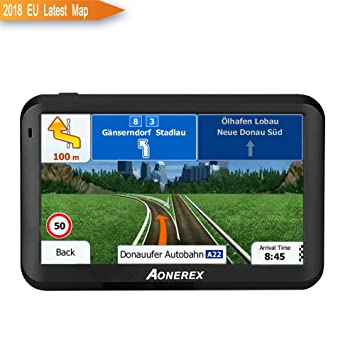 """GPS Coche navegador 5 """"Sistema de navegación por satélite 8 GB con navegación de"""
