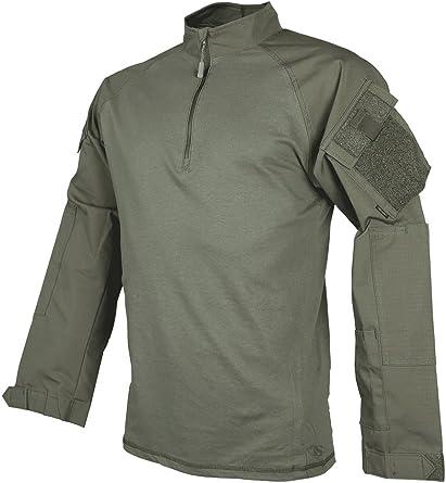 Tru-Spec® Camisa de Combate para Hombre, Tru Rngr Grn P/C R/s 1/4 Cremallera, Manga Larga, Hombre, Color Ranger Green, tamaño L (Largo): Amazon.es: Ropa y accesorios