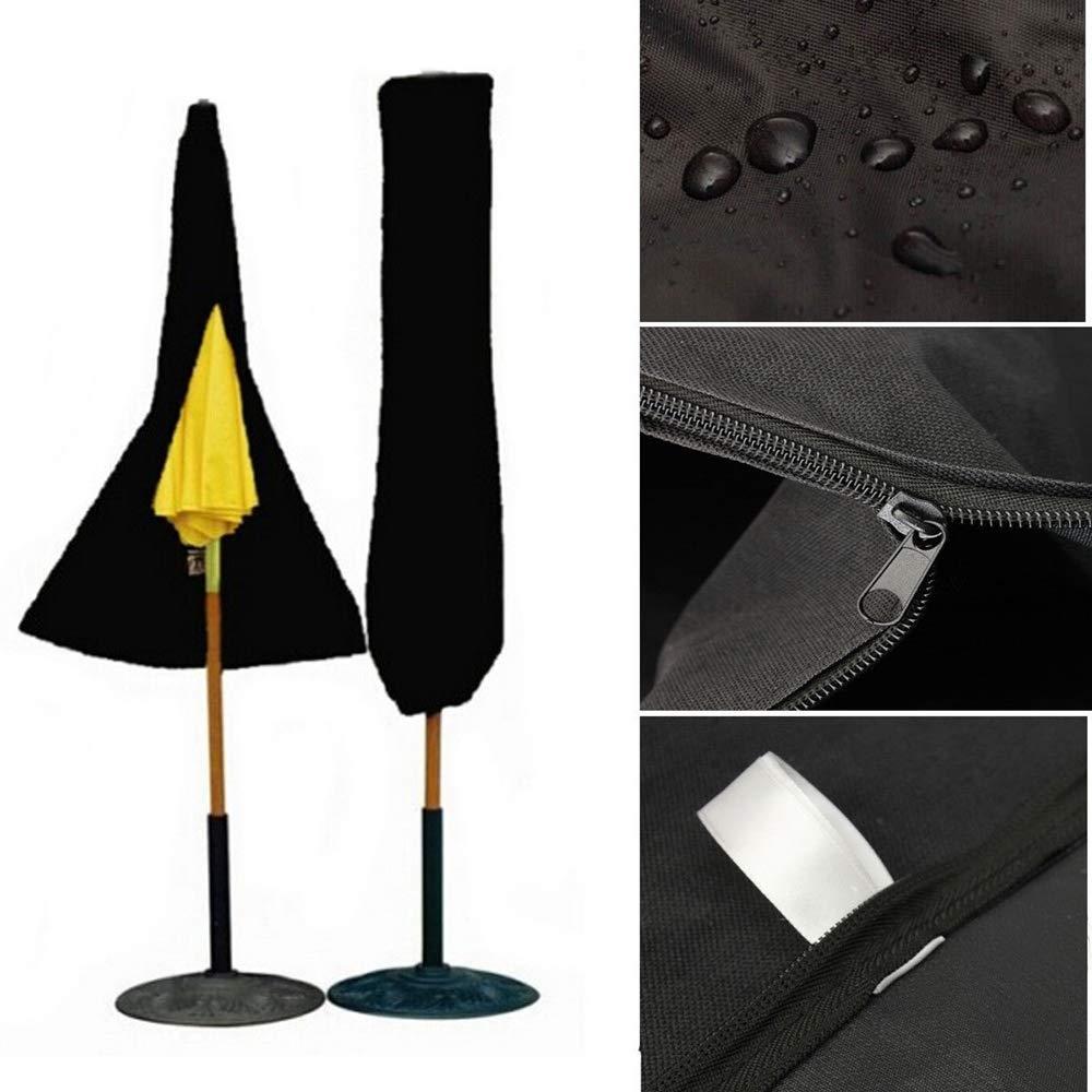 Patio Cover,Outdoor Umbrella/Parasol Dust Cover, Waterproof Black,Black