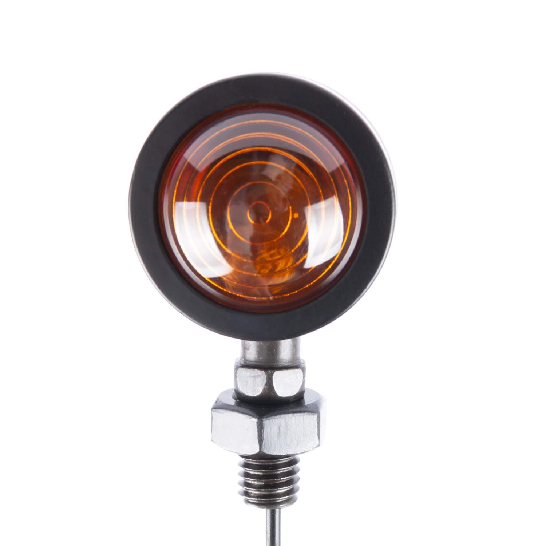 SFONIA 4pz Indicatori di Direzione Moto Retr/ò Trasformare Segnale Luce Freccia di Luce 12V Trasformando Indicatore Luce Universale
