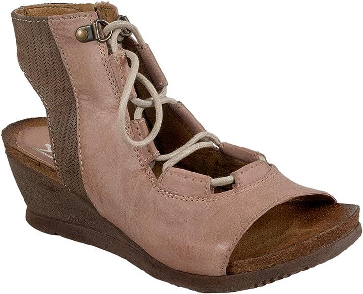 73ec2a1bd3b4 Miz Mooz Satine Women s Sandal Wedge Rose