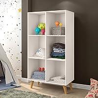 Estante Infantil Organizadora 6 Nichos J&a Móveis Off White