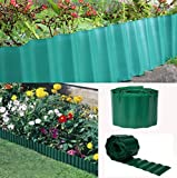Cheap V Proteck Decoration Fence 29.6″ Length x 5.9″Height Plastic Dark Green Wavy Fence, Outdoor Landscape Fence, Field fence