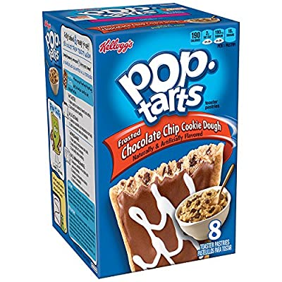 Pop-Tarts Toaster Pastries, Frosted Chocolate Chip Cookie Dough, 14.1-Ounce Boxes (Pack of 6)