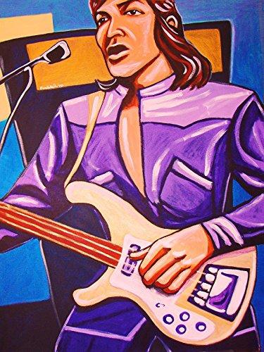 Mccartney Beatles Wings - PAUL McCARTNEY PRINT POSTER guitar cd lp record album vinyl Beatles Wings rickenbacker bass