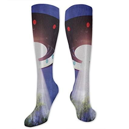 de893b8d335a Space Jupiter Neighbors Outer Space UFO Aliens Spaceship Extra Terrestrial Men's  Fun Dress Socks - Colorful