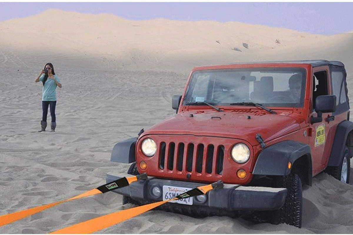 TOWROPE PLUS 2 /× Abschleppseil Auto Tow Riemen mit 4 Sicherheitshaken Und Aufbewahrungstasche Schwerer 4x4 Tow G/ürtel Size : 5m//5t