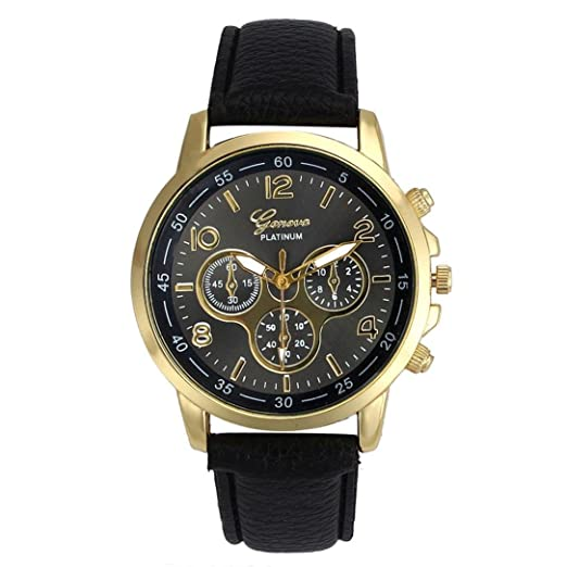 Amazon.com: LtrottedJ Watch Unisex Casual Geneva Faux ...