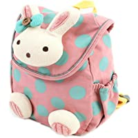 【+BONUS!】Labebe Toddler Backpack with Harness, Pink Backpack with Bunny for Kid of 1-3 Years, Anti-Lost Backpack with Anti-Lost Leash/Toddler Girl Backpack/Snack Bag Kid/Harness Backpack/Baby Girl Bag